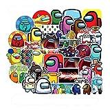 ADosdnn 50pcs Juego Entre Nosotros Graffiti Pegatinas for el Cuaderno de la Motocicleta monopatín Ordenador del teléfono móvil de la Etiqueta Pegatinas de Graffiti (Color : 10Pcs Random)