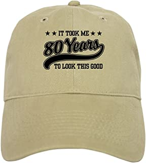 6891cdd2 CafePress - Funny 80Th Birthday - Baseball Cap with Adjustable Closure,  Unique Printed Baseball Hat