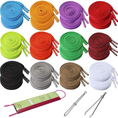 Drawstring Replacement - 24PCS Sweatshirt Shorts Hoodies Drawstring with 3pcs Drawstring Threader, 47.3' Long