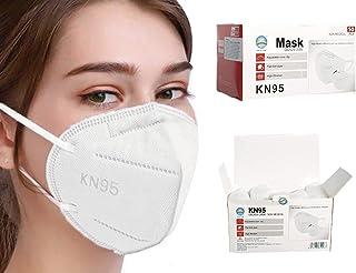 Sacre Solutions Cubrebocas KN95 Certificado; 50 piezas, calidad premium, cómodo para el cuidado entre amigos y familia