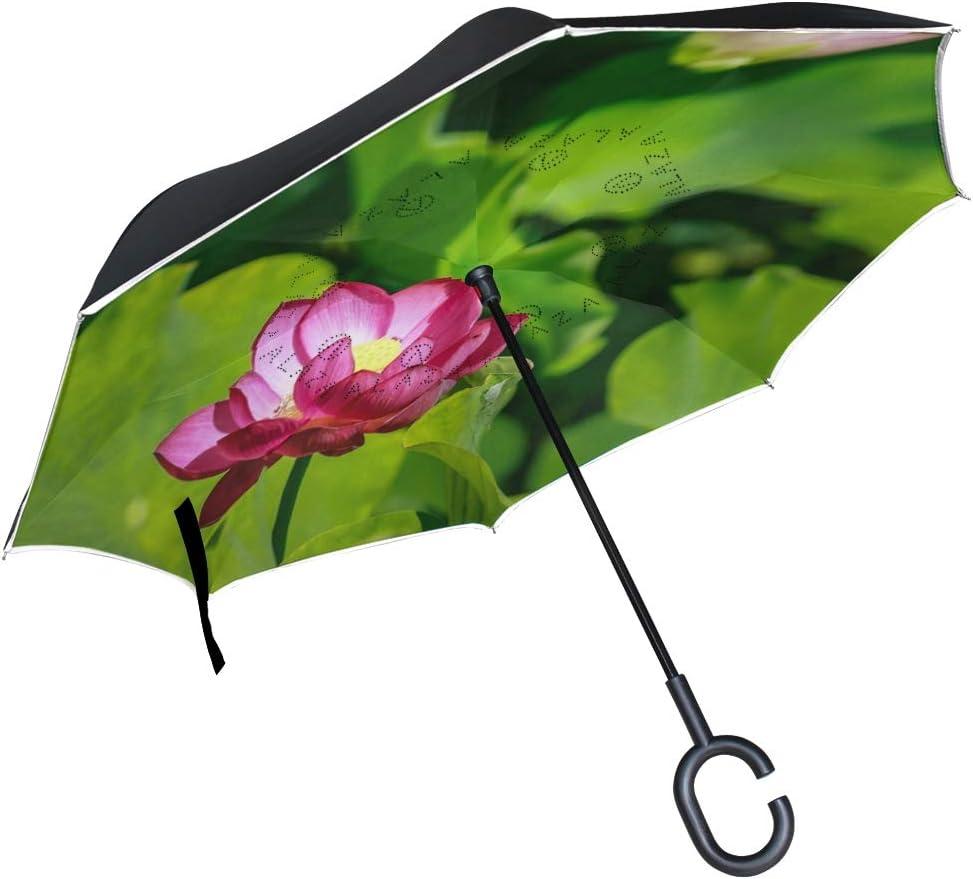 Lotus Parasol Reverse San Antonio Mall Umbrella C-Handle Durable Windpro OFFicial mail order