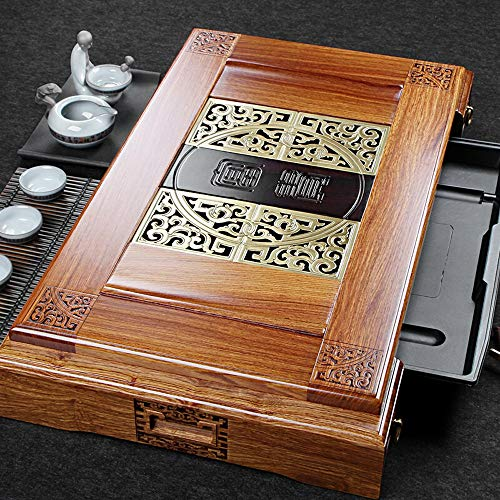 Fantastic Deal! Tea Tray Home Or Office Teahouse Tea Tray Solid Wood Japanese Chinese Gongfu Tea Ser...