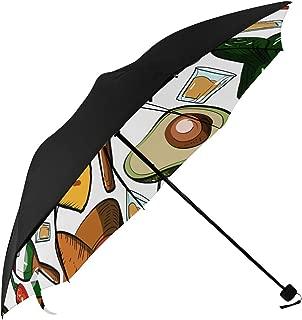 Pyramid Musical Instrument Gourmet Design Retro Design Art Ethnic Compact Travel Umbrella Parasol Anti Uv Foldable Umbrellas(underside Printing) As Best Present For Women Uv Protection