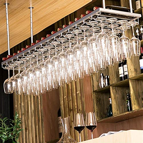 Muebles para el hogar Estante para vino Soporte para copas Almacenamiento Auge ajustable Estante para copas creativas Estante para vajilla montado en la pared para bar Hogar Sala de estar Cocina Re