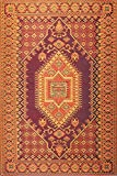 Mad Mats Oriental Turkish Indoor/Outdoor Floor Mat, 6 by 9-Feet, Rust