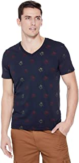 GUESS Factory Men's Lester Rose-Print Tee