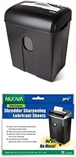 Aurora AU820MA High Security 8-Sheet Professional Micro-Cut Paper/ CD/ Credit Card Shredder and Sharpening and Lubricating...