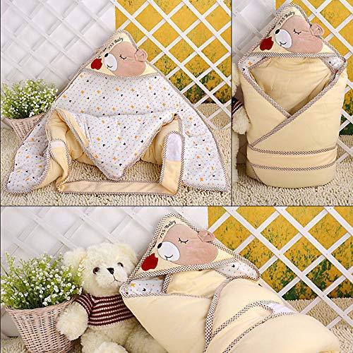 DongJiuk pasgeboren baby slaapzak, 0-1 slaapzak, vier seizoenen beschikbaar baby kleding kan dragen deken, 100% katoen dragen deken baby slaapzak
