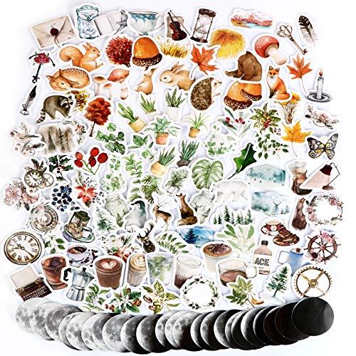 274 Pegatinas Stickers Scrapbooking Manualidades Bullet Journal Otoño Álbum Fotos Agenda Adhesivos Decoración Álbumes de Recortes Calendarios Tarjetas de Felicitación Regalos Sobres