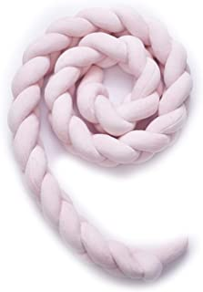 Fashion·LIFE Baby Crib Bumpers Cot Bumper Braid Pillow Cushion Nursery Decorations Braided Bumper for Crib Nursery,2M Pink