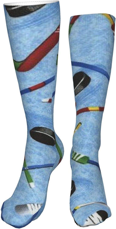 Hockey Sticks Women Premium High Socks, Stocking High Leg Warmer Sockings Crew Sock For Daily And Work