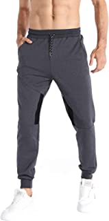 Sponsored Ad - iCKER Mens Jogger Sweatpants with Pockets Cotton Drawstring Athletic Casual Training Pants