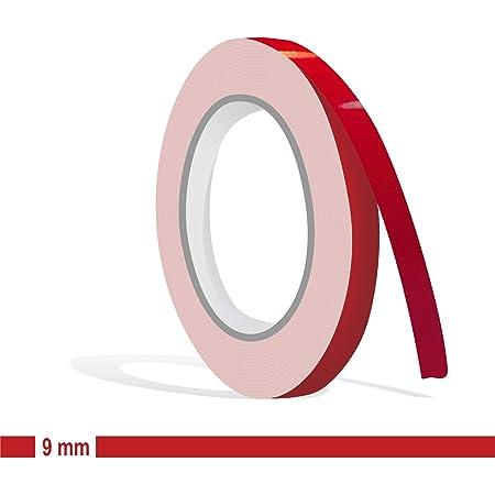Siviwonder Zierstreifen Rot Karmin Glanz In 9 Mm Breite Und 10 M Länge Aufkleber Folie Für Auto Boot Jetski Modellbau Klebeband Dekorstreifen Karminrot Auto