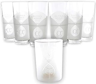 Alpha Noble Vodka Gläser 6er Set  passenden Flaschen-Kühler Exklusiv Becher Scandi Teil satiniert 33 cl geeicht ~mn 1249 1113
