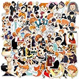 NEITWAY Paquete de Pegatinas para Computadora Portátil 100 Piezas,Anime Haikyuu Stickers Vinilo Graffiti Calcomanías Pegatina para Moto Infantiles ParedCoche Teclado iPhone Snowboard