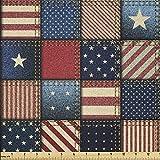Lunarable USA Stoff von The Yard, Amerikanische Flagge