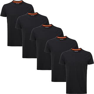 Men's 5 Pack Slim Fit Plain Midweight Crew Neck T-Shirt