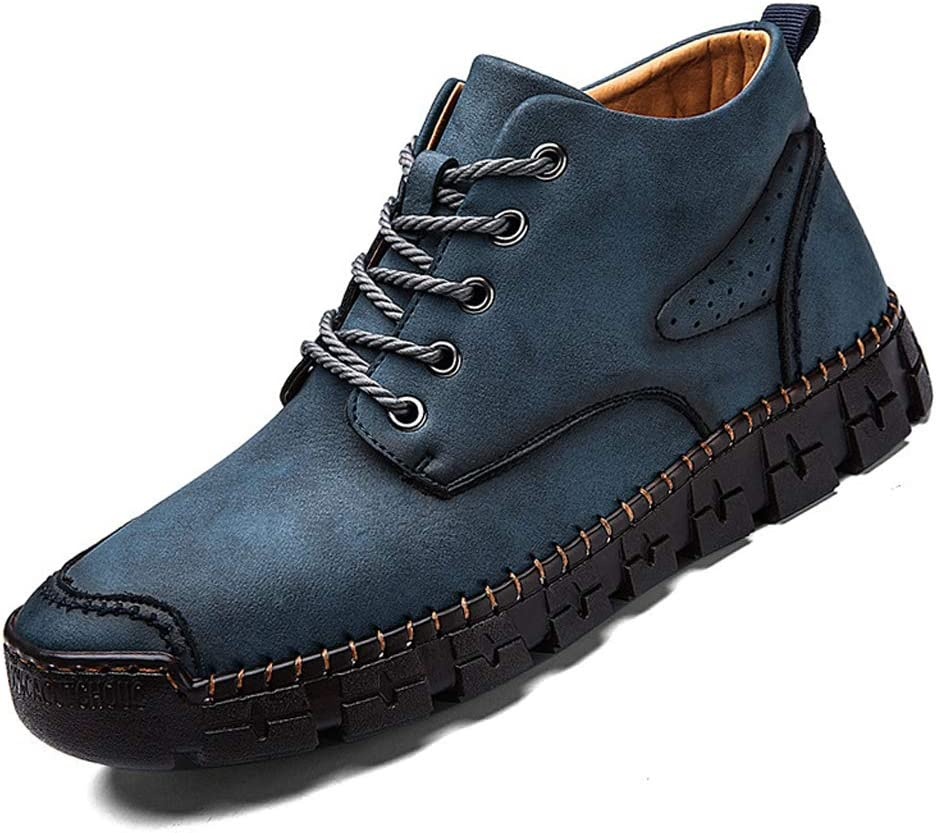 WggWy Overseas parallel import regular item Mens Boot Springs Leather Shoes Fashion Middle Casual Cut Tulsa Mall