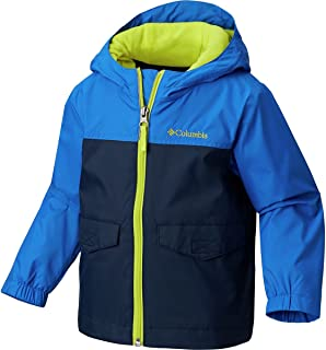 Kids Boy's Rain-Zilla Jacket (Little Kids/Big Kids) Collegiate Navy/Super Blue/Zour MD (10-12 Big Kids)