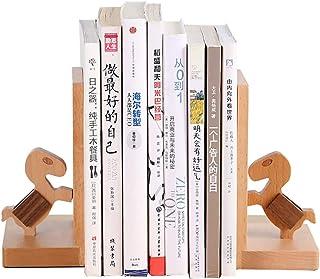 غلاف خشبي للديكور الحديث بتصميم حصان دفاتر كتب ثقيلة ، رف كتب ديكور نهاية كتاب القراءة لمكتب المكتبة وعرض الكتب المدرسية