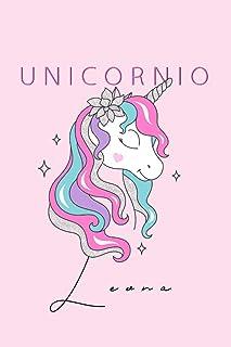 Notebook de Unicornio de Leona: Lined Blank Notebook for ( Unicorno Notas)