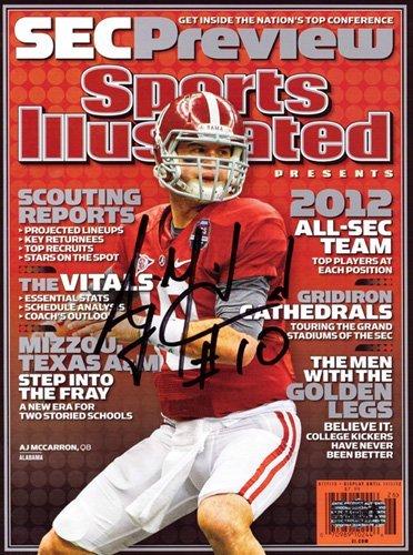 AJ McCarron Autographed/Signed Alabama Crimson Tide Sports Illustrated - SEC Preview Edition