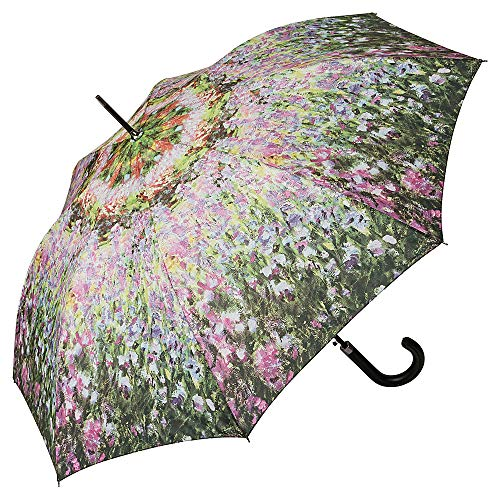 VON LILIENFELD Regenschirm Auf-Automatik Claude Monet: Der Garten Blumen Damen Herren