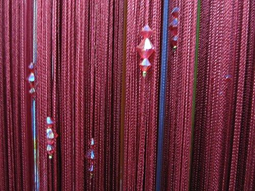 Perline Di Cristallo Acrilico Tenda Finestra Di Passaggio Porta Vino Decorazione Divisore Rosso