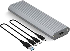 Aluminum NVME External Enclosure USB3.1 Type-C to PCIe M.2 NVMe SSD Enclosure Adapter Based on JMS583 10 Gbps for Solid State Drive 2230/2242/2260/2280