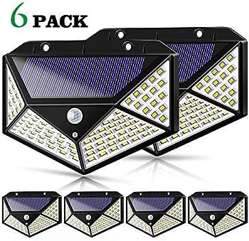 6-Pack Warmtaste 100-LED 1000Lm Motion Sensor Outdoor Solar Lights
