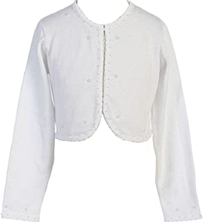 6e6426a29 P Dreamer P Little Girls Beaded Knit Cotton Bolero Shrug Sweater for Flower  Girl Communion