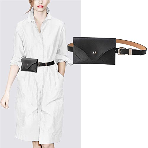 697538e14 JASGOOD Womens Leather Belt Fanny Pack With Removable Belt Tassel Waist  Pouch Fashion Belt Bags
