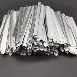 Airssory 100 piezas de metal adhesivo plano de aluminio