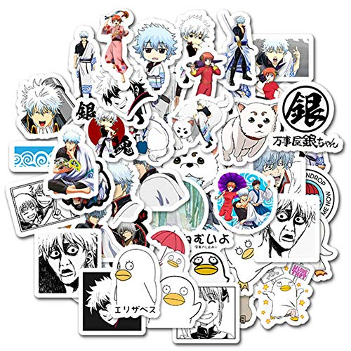 ALTcompluser 50 stk Anime Gintama Stickers Wasserdicht Vinyl Aufkleber fur Laptop Macbook Gepack Skateboard