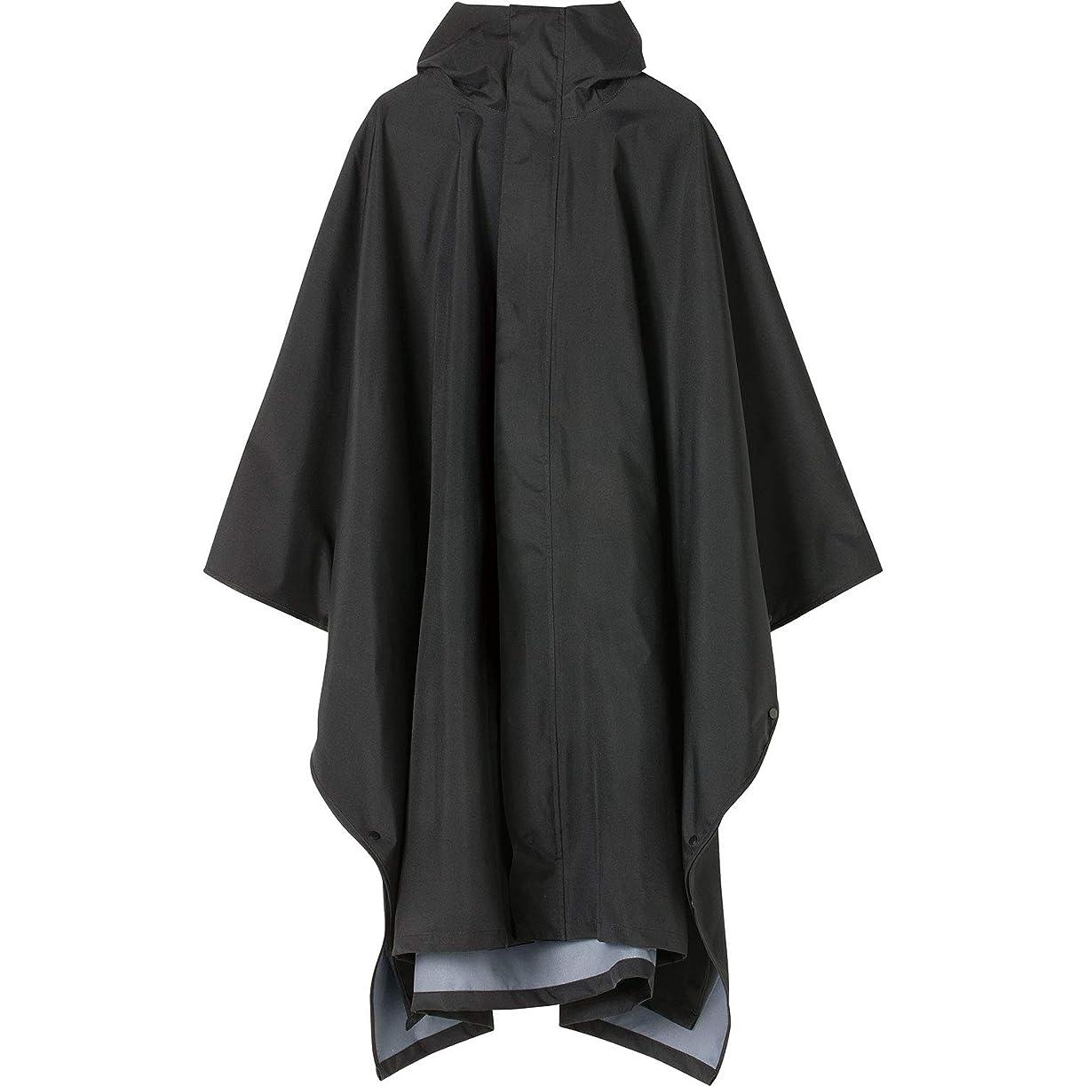 タブレット倉庫冗談でキウ(Kiu) ポンチョ ブラック FREE [KiU RAIN PONCHO MIGHTY] K104-900