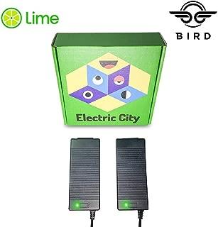 Lime Scooter Charger 2-Pack   Bird, Lime-S, Mijia M365, Segway Ninebot Es4, Es2, Es1 Compatible.