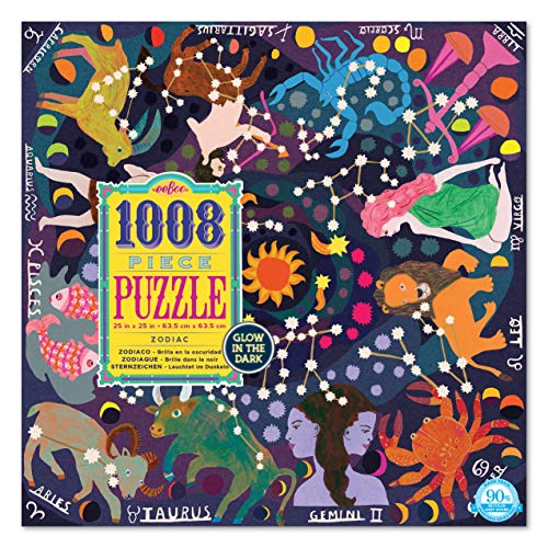 eeBoo Zodiac Glow in The Dark Jigsaw Puzzle for Adults, 1000 Pieces