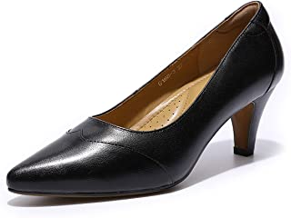 Mona flying Womens Leather Pumps Dress Shoes High Heels...
