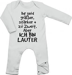 Shirt Happenz Seid Größer, stärker  Zu Zweit. Aber Ich Bin Lauter Babybody Liebe Baby Familie Langarm Langärmliger Strampler