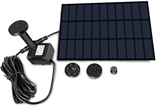 Sunlitec Solar Fountain with Panel Water Pump for Bird Bath Solar Panel Kit Outdoor Fountain for Outdoor Small Pond, Patio...