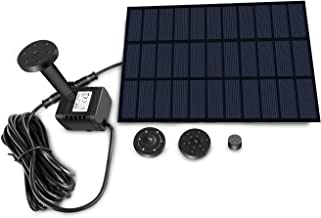 Sunlitec Solar Fountain with Panel Water Pump for Bird Bath Solar Panel Kit Outdoor Fountain for Outdoor Small Pond, Patio Garden and Fish Tank