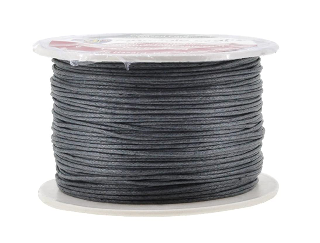 Mandala Crafts 1mm 109 Yards Jewelry Making Beading Crafting Macramé Waxed Cotton Cord Thread (Dim Gray)