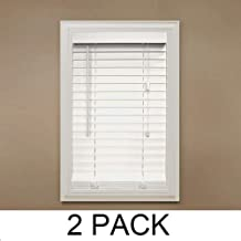 Home Decorators Collection White 2 in. Faux Wood Blind - 52 in. W x 48 in. L (Actual Size 51.5 in. W x 48 in. L) (2)