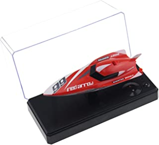 Tipmant Remote Control Boat 4CH 2.4G RC Speed Racing Boat Speedboat Ship Kids Summer Water Toy (No Antenna Required) (Red)