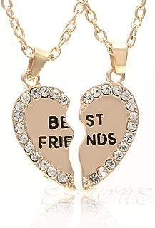 1Pair Half Love Heart Pendant Best Friends Necklace Gift