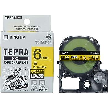 キングジム テープカートリッジ テプラPRO SC6YW 強粘着 6mm 黄