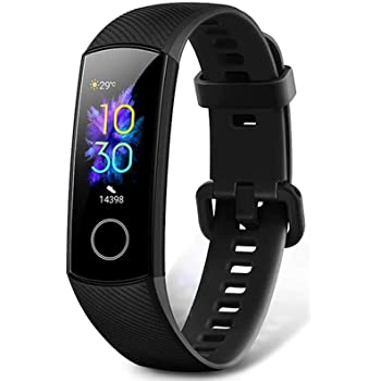 HONOR Band 5 Fitness Trackers HR, Activity Trackers Health Exercise Watch with SpO2 Heart Rate and Sleep Monitor, Smart Band Calorie Counter, Step Counter, Pedometer Walking for Men Women, Black