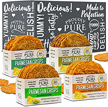 4-Pack Proudly Pure Parmesan Cheese Crisps