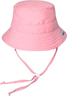 Vaenait baby Kids Unisex Sun Hat UPF 50+ Breathable Bucket Sun Protection Play Hat with Adjustable Chin Strap Mesh Lining - Pink - M (4-6T)