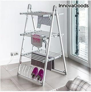 comprar comparacion InnovaGoods Tendedero Eléctrico Plegable, Aluminio y ABS, Gris, 66x73x135 cm